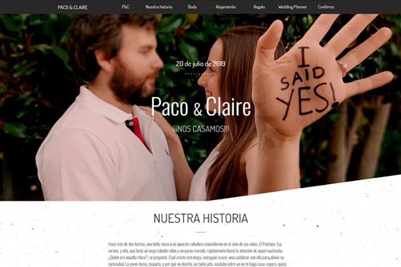Web personal - Web bodas